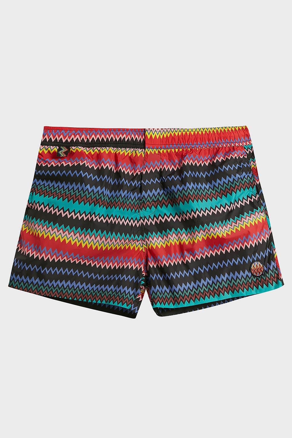 MISSONI Printed Swim Shorts, Size Xxl, Men in Blue