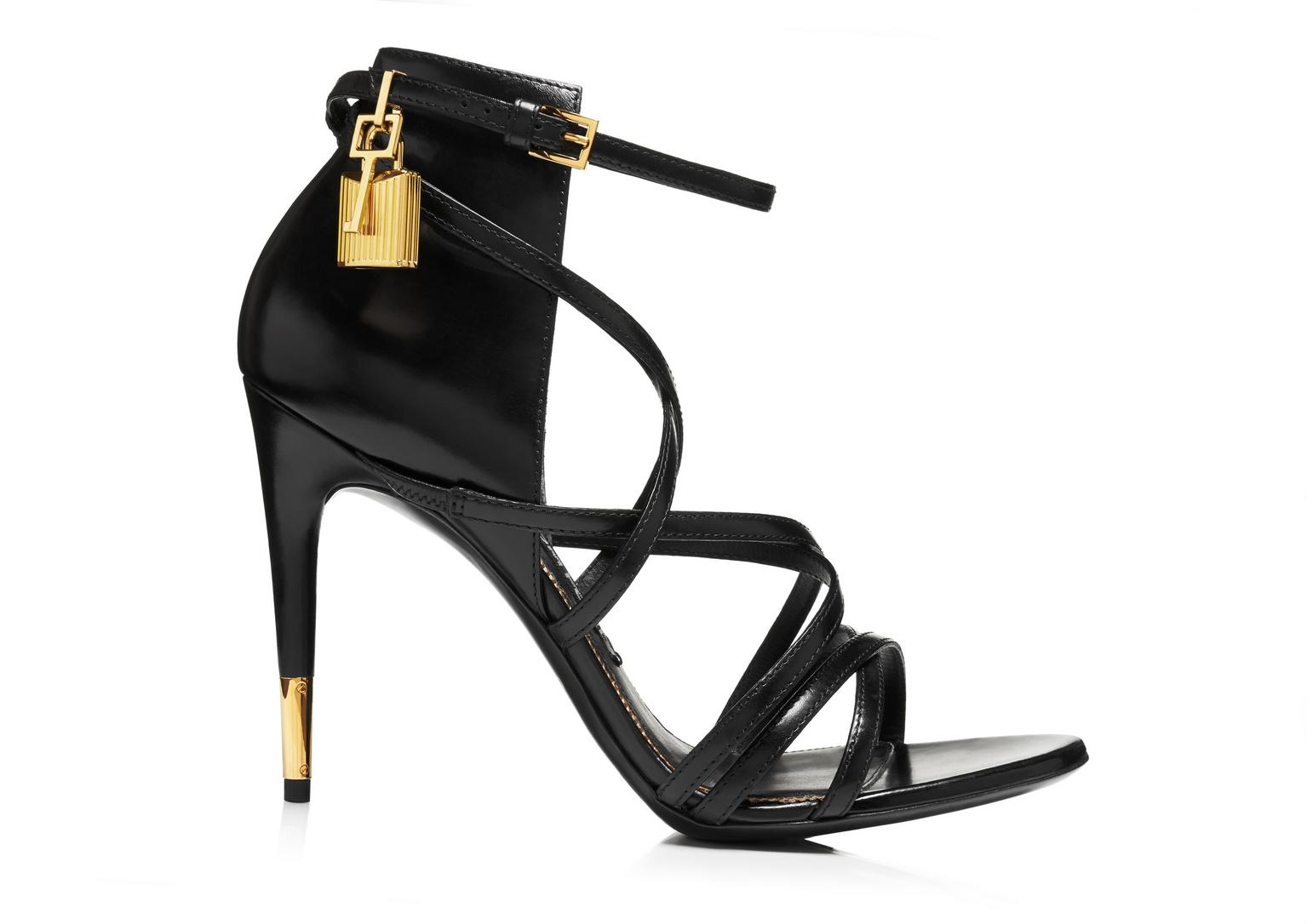 Tom Ford Leather Ankle Strap Sandals discount authentic igwiCi