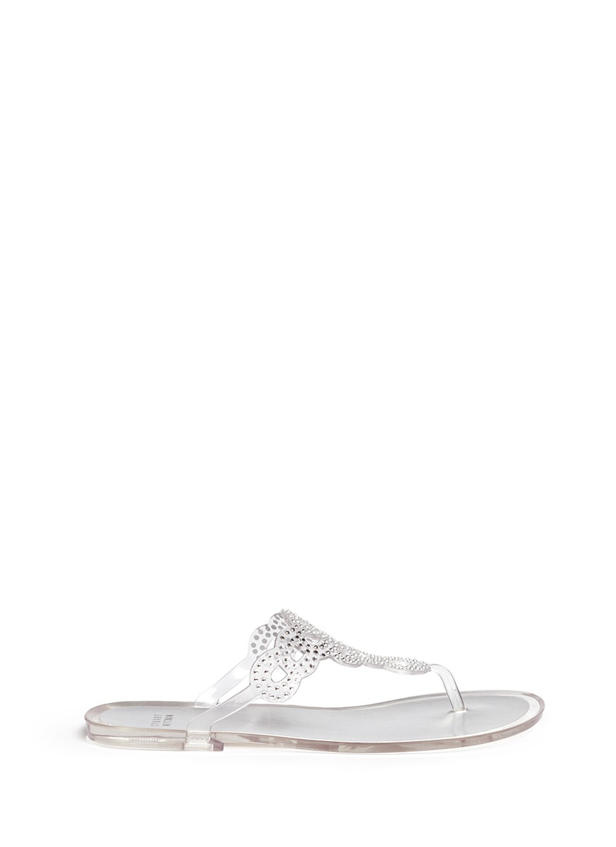 Stuart Weitzman Embellished Jelly Sandals How Much Cheap Online The Cheapest Sale Online Newest Cheap Price 6jf0vSA