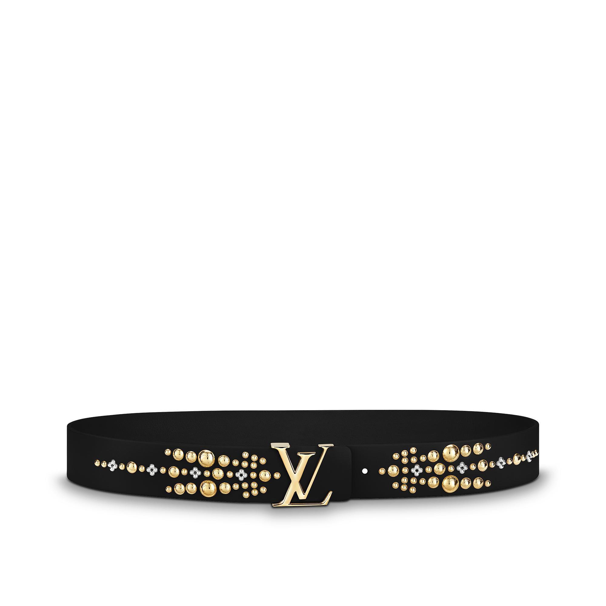 Lv Iconic 35Mm Belt, Black