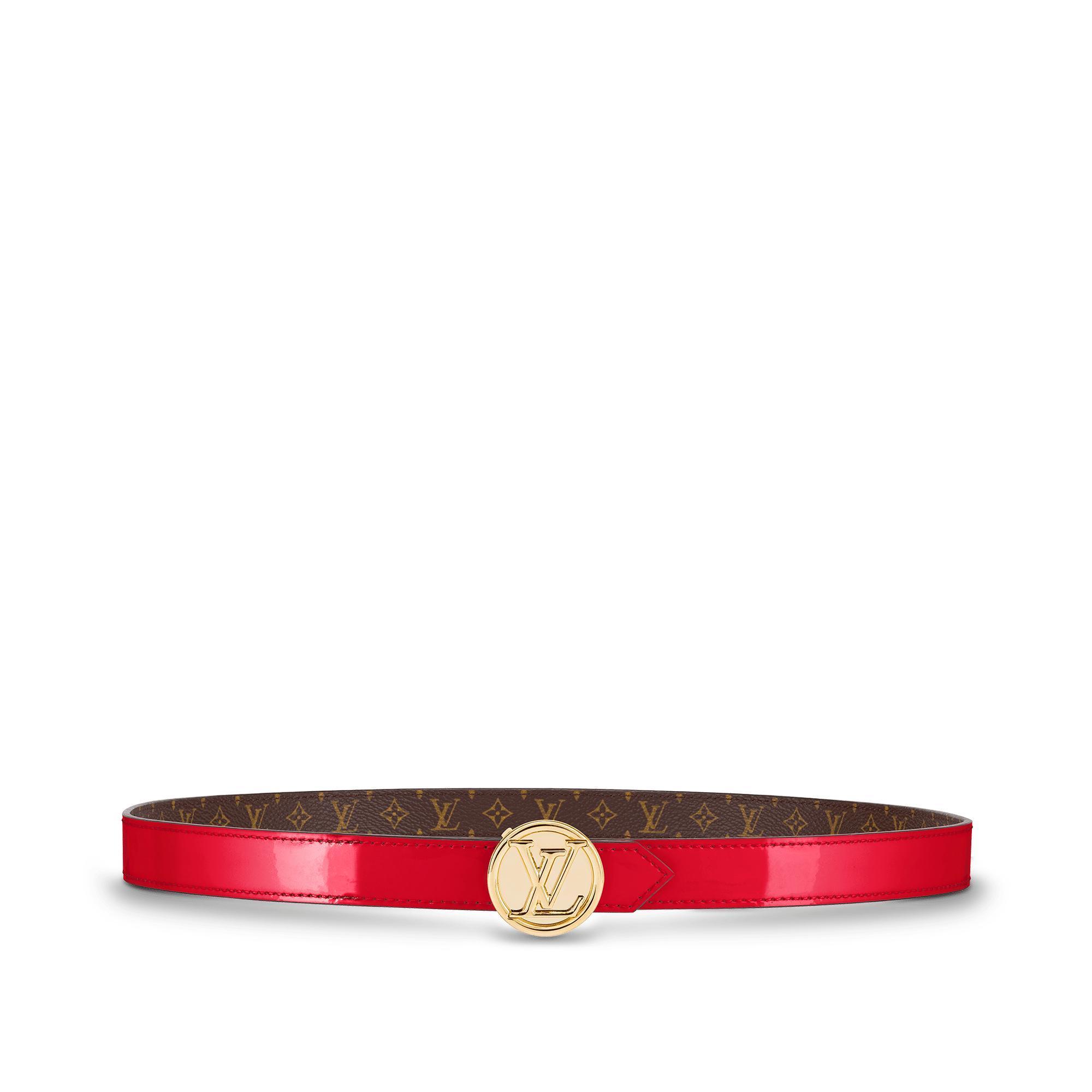 Lv Circle 20Mm Reversible Belt, Red Scarlet