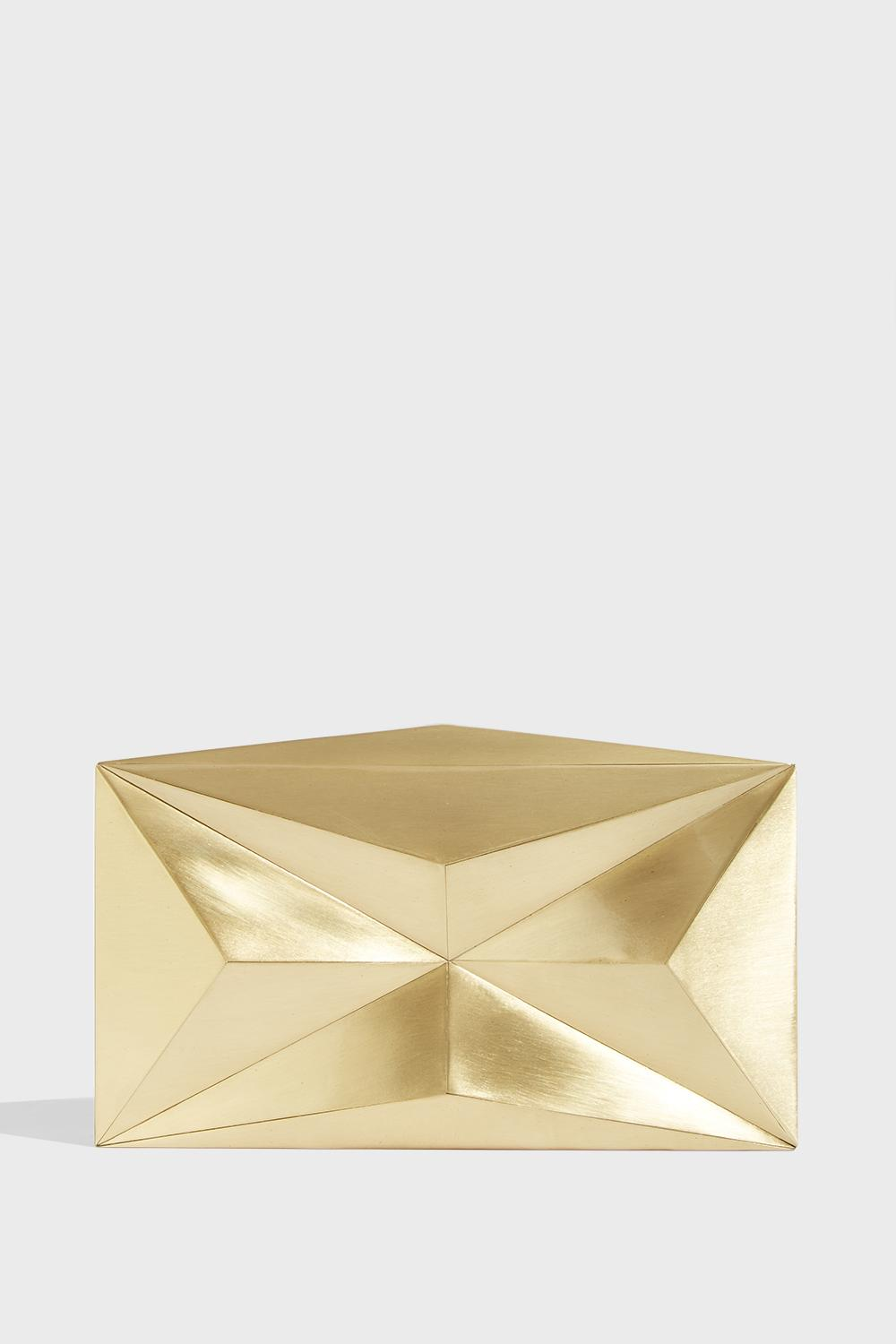 KDP Sculpture Metal Clutch, Size Os, Women, Y Gold