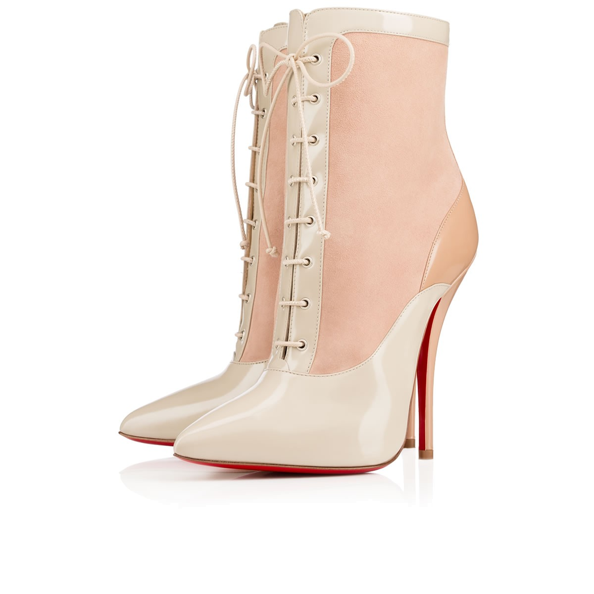 CHRISTIAN LOUBOUTIN Lady Tucson 120Mm Nude Jazz Leather in Version Nude