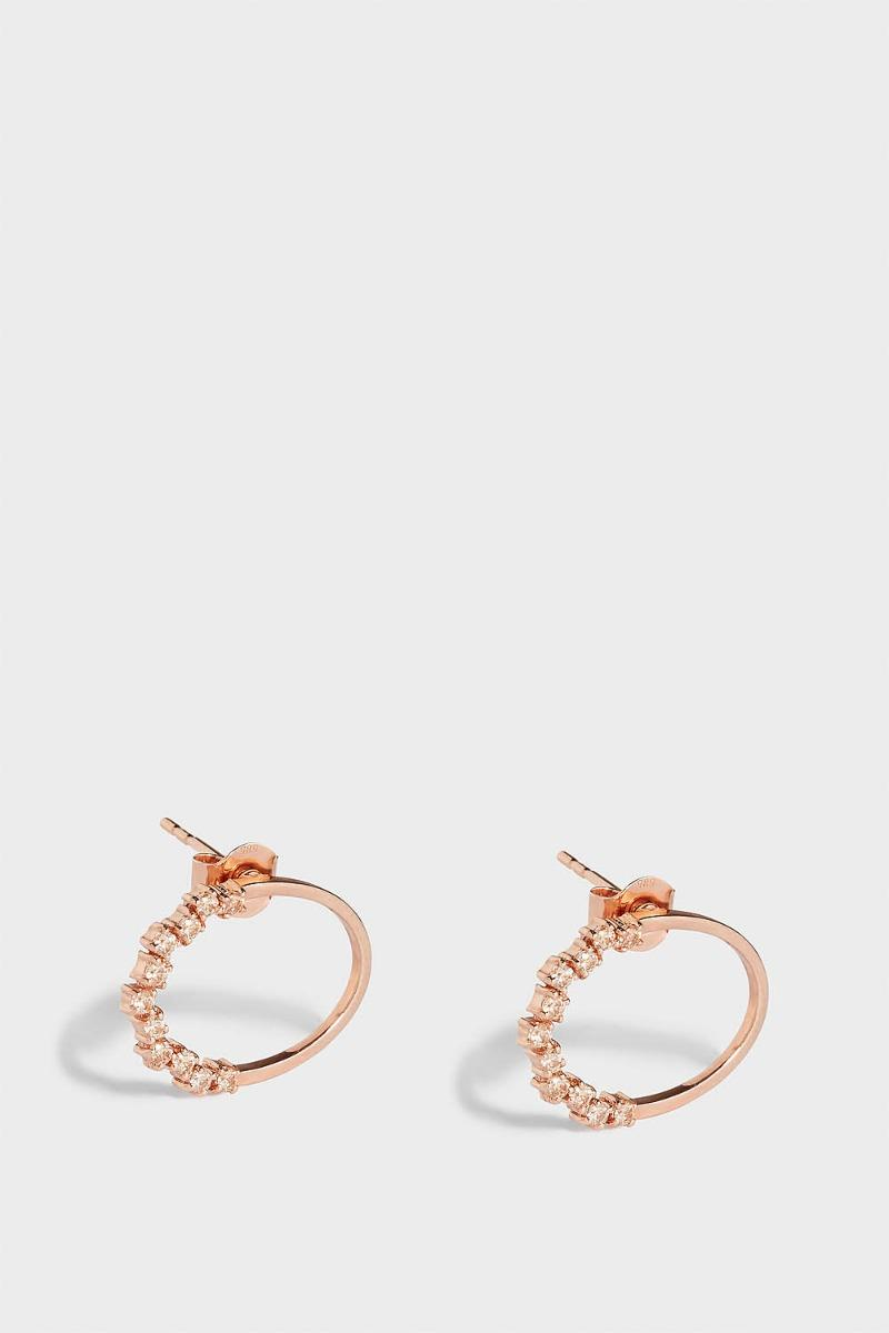 MAHA LOZI Let It Be Rose Gold-Plated Crystal Earrings, Os in Black