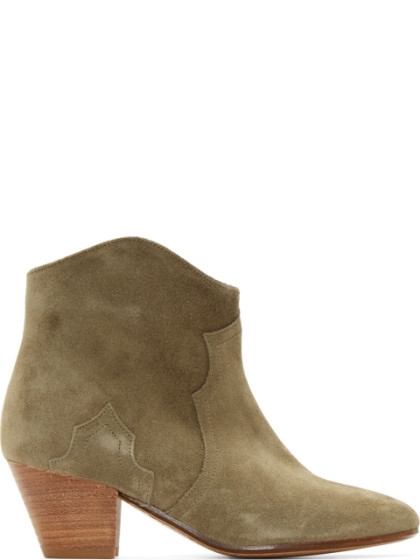 Étoile Dicker 55Mm Suede Ankle Boots, Beige