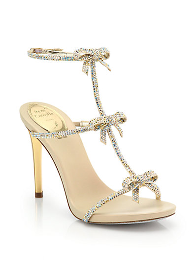 f3264c60cb940 RENÉ CAOVILLA Crystal Bow-Embellished T-Strap Sandal