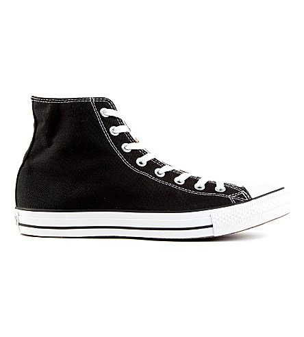 Men'S Chuck Taylor Hi Top Casual Sneakers From Finish Line, Black Canvas