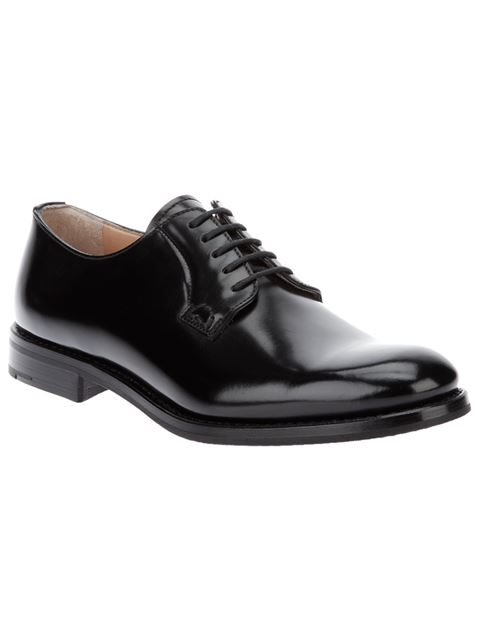 Shannon Leather Derby Shoes in Black