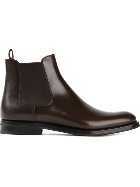 Monmouth Leather Ankle Boots, Dark Brown