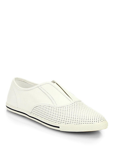Marc by Marc Jacobs Leather Slip-On Sneakers