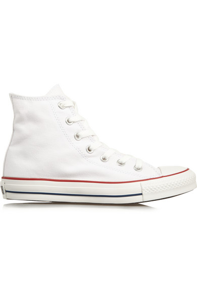 Chuck Taylor® All Star® 'Lux' Hidden Wedge High Top Sneaker (Women), White