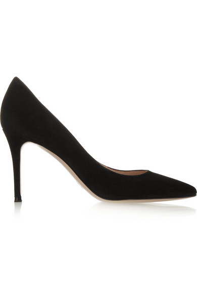 Gianvito 85 Suede Point-Toe 85Mm Pump, Black