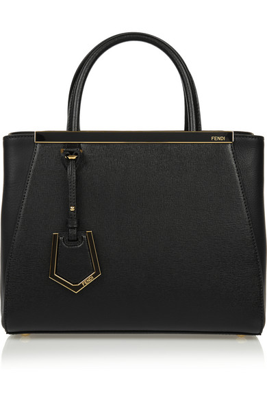 Black Leather '2Jours' Petite Convertible Top Handle Bag