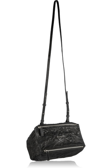 'Small Pepe Pandora' Leather Shoulder Bag - Black from SSENSE