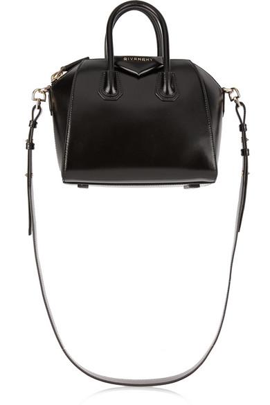 Antigona Small Leather Tote in Black
