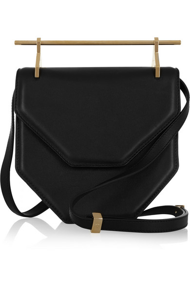 M2MALLETIER Amor Fati Single Calfskin Leather Shoulder Bag - Black