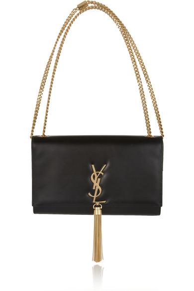 Monogramme Leather Shoulder Bag, Grey