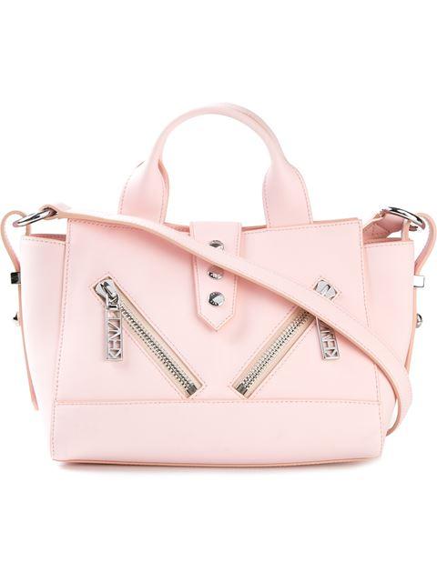 Mini Kalifornia Rubberized Leather Bag, Light Pink, Rose