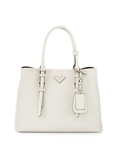 ... ireland prada saffiano cuir covered strap double bag white talco 02980  9fcf9 508062ccec556