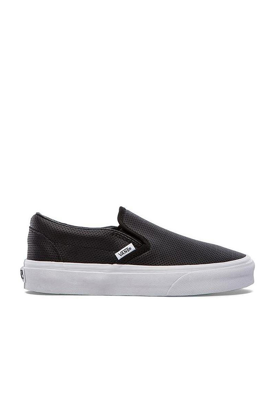 Perforated SneakerwomenLeather Vans 'classic' On Slip Black 8nkN0wPOX