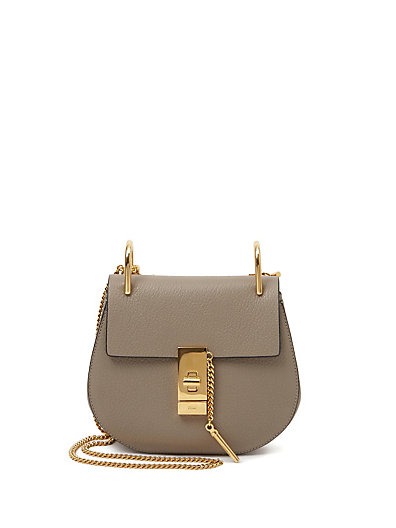 Drew Mini Lambskin Shoulder Bag, Gray, B9Eabstrac