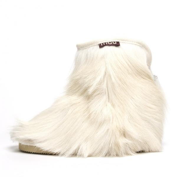 Goatskin Cowboy Ankle in White from mou