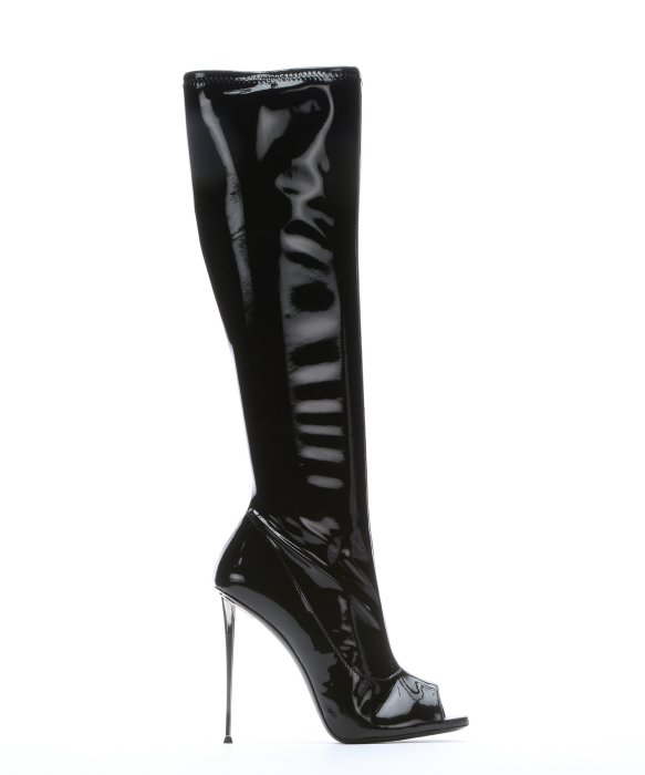 Giuseppe Zanotti Patent Knee-High Boots Clearance Store Low Shipping Fee Good Selling Cheap Online Zaixlco6