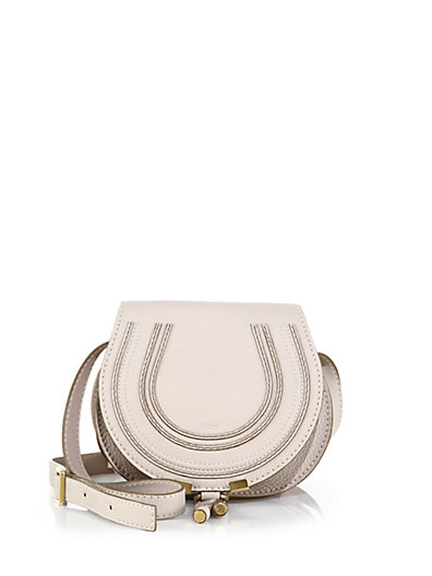 'Marcie - Medium' Leather Crossbody Bag, Abstract White