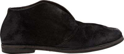 Oiled Suede Ankle Boots in Black