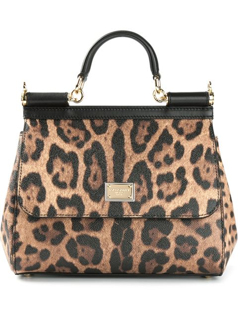 9753f0dba2cb Dolce   Gabbana Sicily Medium Leopard-Print Textured-Leather Shoulder Bag  In Animal Print