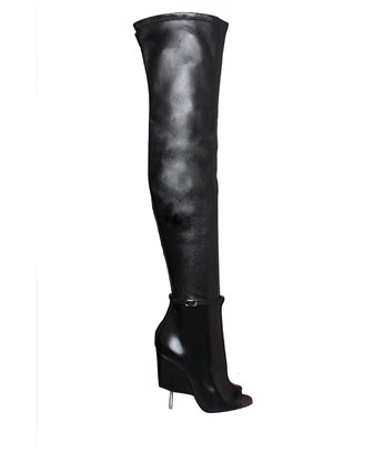 GIVENCHY 115Mm Narlia Stretch Nappa Leather Boots, Black