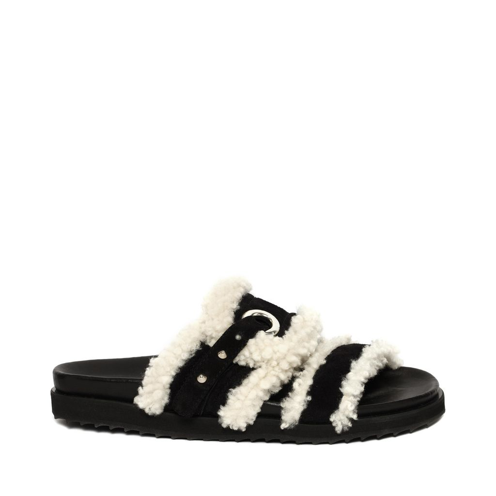 Suede and shearling sandals Alexander McQueen pOjNbL
