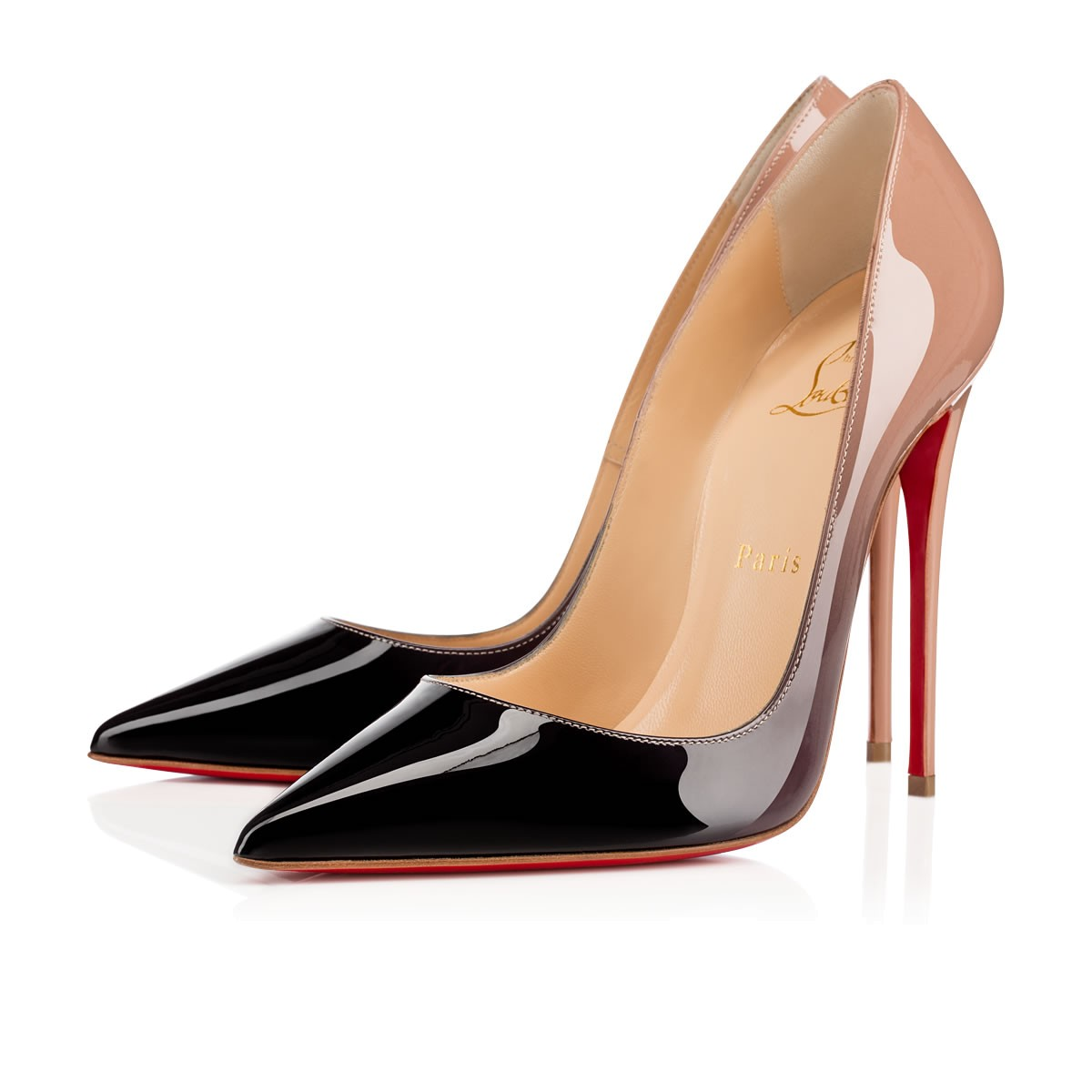 a06b36368d18 CHRISTIAN LOUBOUTIN DECOLLETE 554 85MM NUDE PATENT LEATHER
