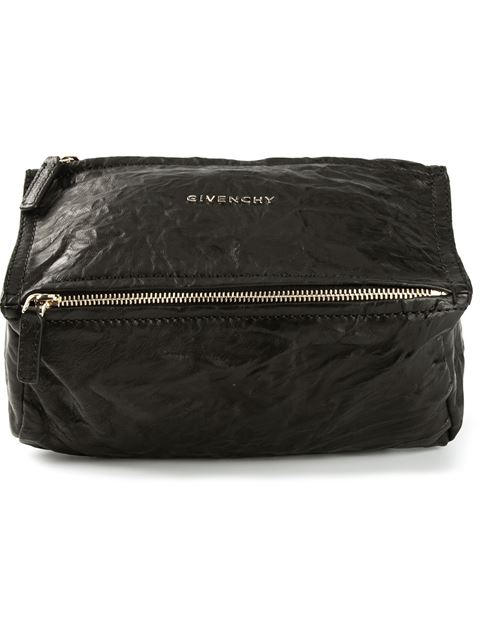 'Small Pepe Pandora' Leather Shoulder Bag - Black