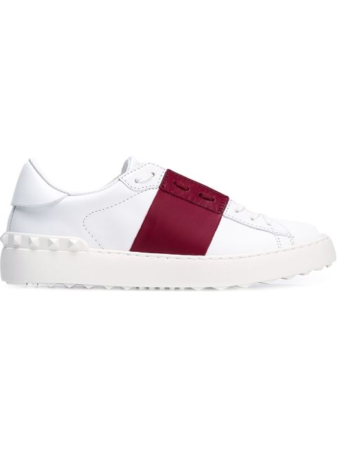 Garavani Open Leather Sneakers, White