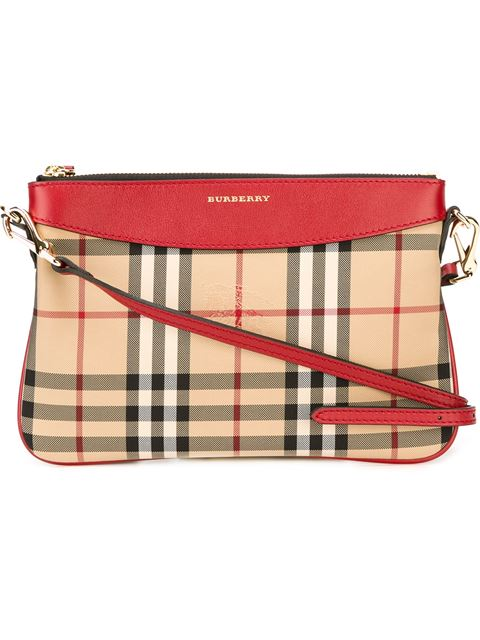d72a681a77fd Burberry Peyton Horseferry Check Clutch Bag In Pink