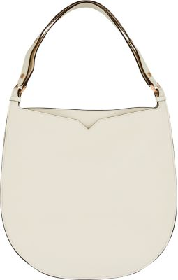 Weekend Large Leather Hobo Bag in White from Valextra