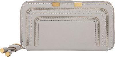 Marcie Zip-Around Leather Wallet in Grey
