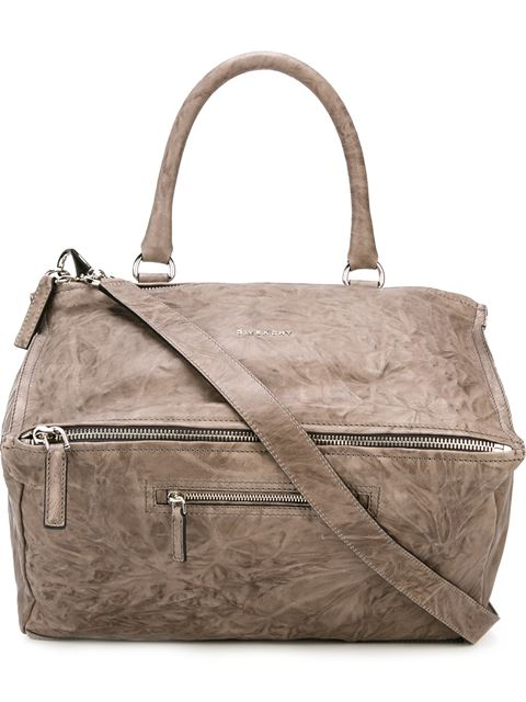 'Medium Pepe Pandora' Leather Satchel - Grey