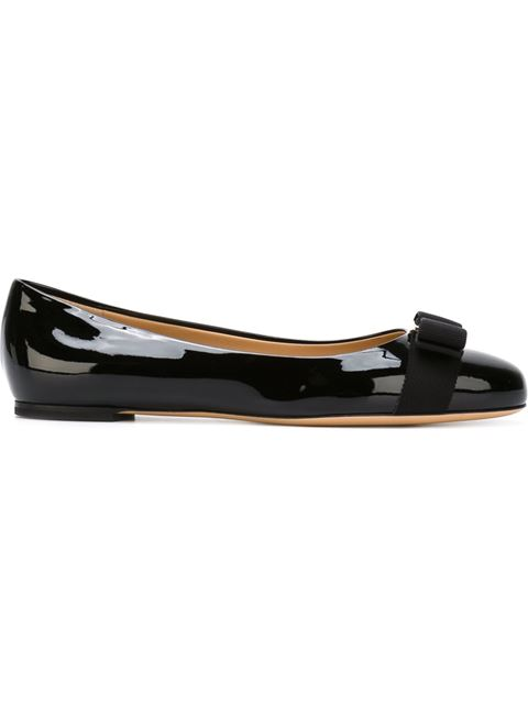 Varina Patent Leather Flats - Black Size 6 from Gilt