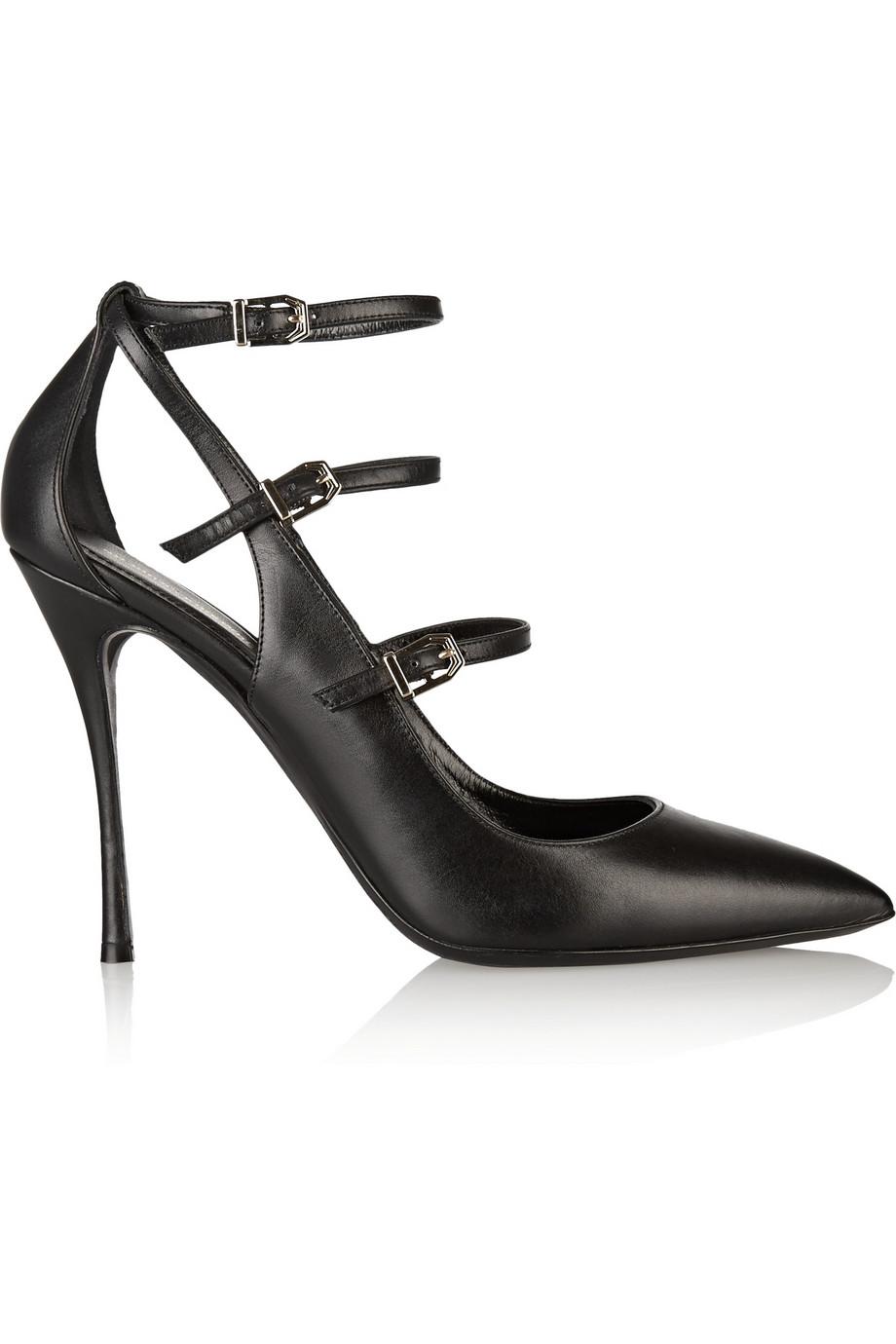 NICHOLAS KIRKWOOD Black Multi Strap Leather Heels