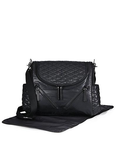 'Jude' Nylon Baby Bag - Black