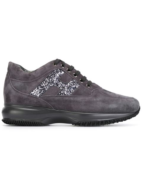 Women'S Shoes Suede Trainers Sneakers Interactive, Grey