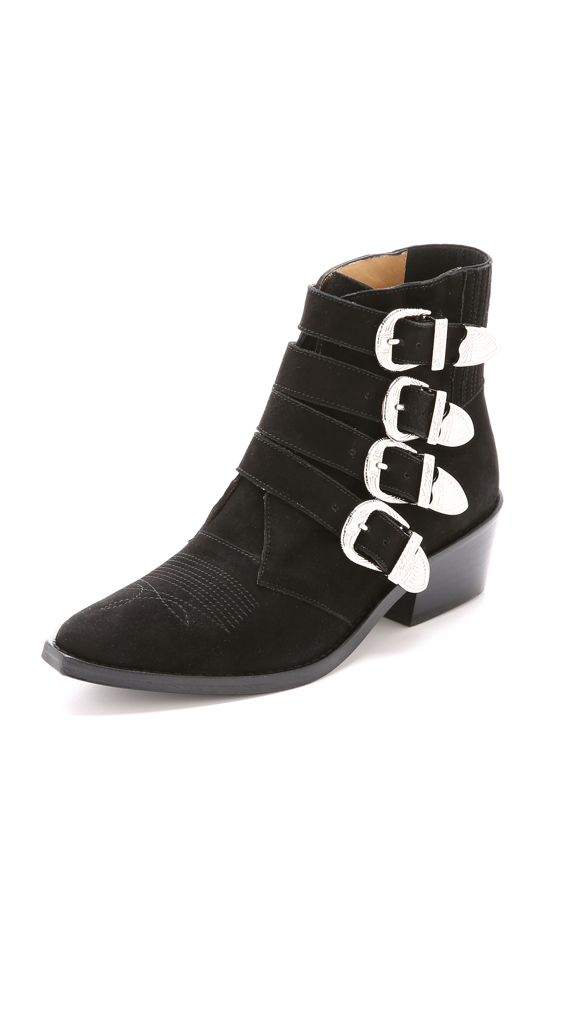 TOGA Buckle Detail Ankle Boots in Black