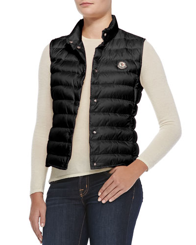 Liane Quilted Down Gilet, Black