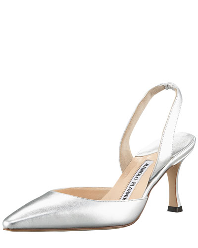 Manolo Blahnik Carolyne Metallic Pumps Quality For Sale Free Shipping For Nice Sale Online Wear Resistance WHPvKto2fr