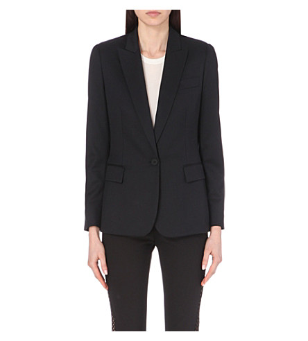 Women'S Ingrid Single-Breasted Blazer Jacket In Black
