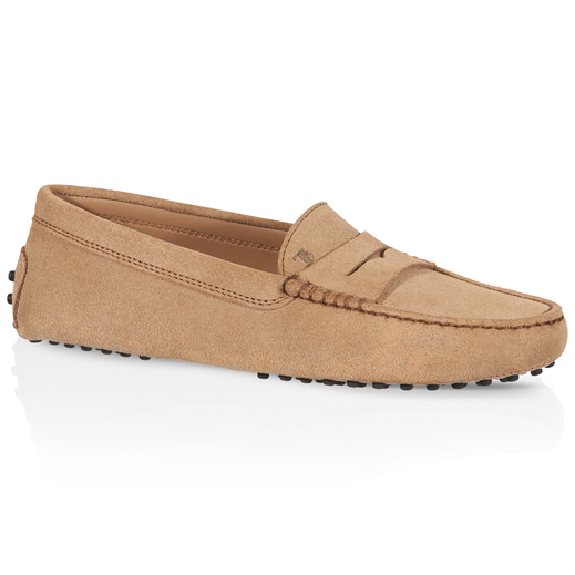 Gommino Driving Shoes In Suede, Brown