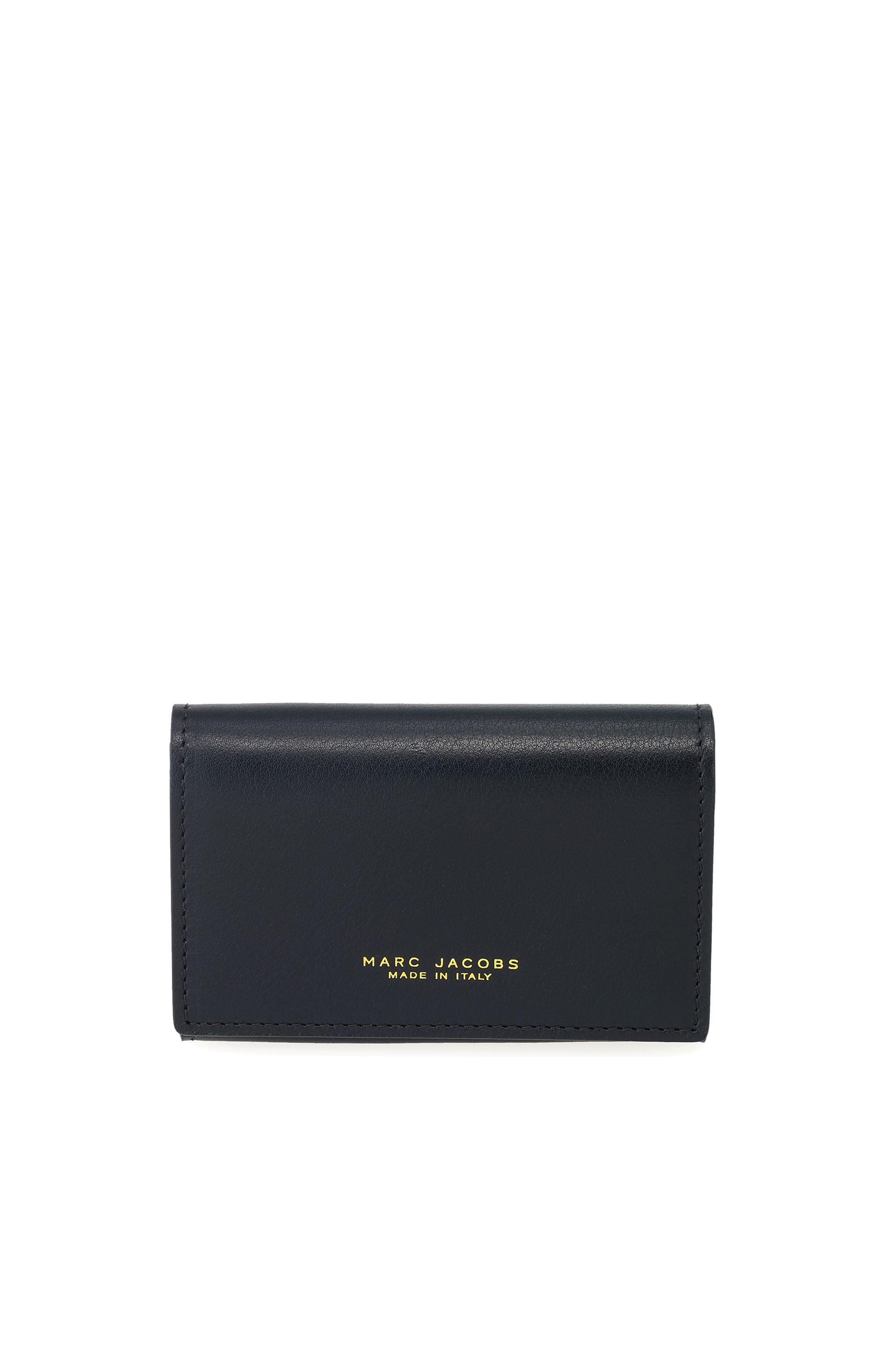 MARC JACOBS BI COLOR BUSINESS CARD HOLDER, BLACK/MILITARY GREEN WITH ...