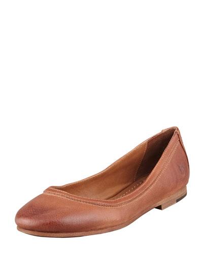 Women'S Carson Ballet Flats Women'S Shoes, Cognac Leather